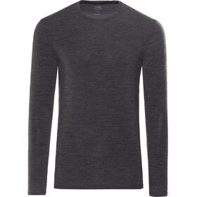 Icebreaker Anatomica Longsleeve Crew Top Heren, jet heather/black